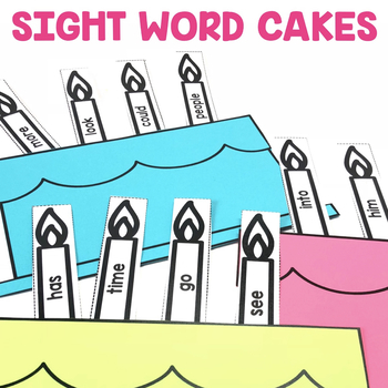"""Sight Word Cakes"" Center"