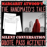 "The Handmaid's Tale ""Silent Conversation"" Quote Pass Activity"