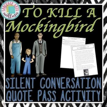 """Silent Conversation"" Quote Pass Activity - To Kill a Mockingbird"