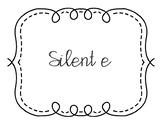 """Silent E"" Word Sort, CVCe"
