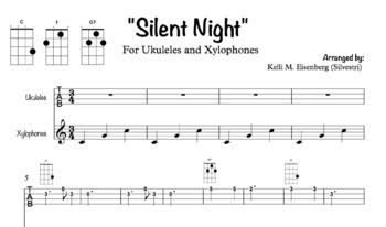 """""""Silent Night"""" for Ukuleles and Xylophones"""