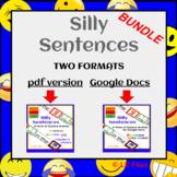 Silly Sentences for Google Docs & pdf format BUNDLE - Dist