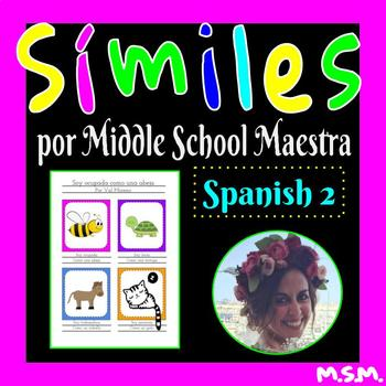 Similes In Spanish Teaching Resources Teachers Pay Teachers