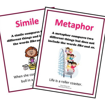 'Similes and Metaphors' posters