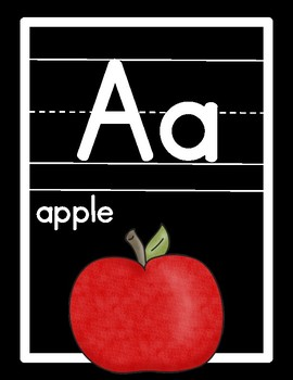 {Simple Black} Alphabet & Number Line Posters