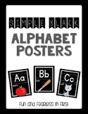 {Simple Black} Alphabet Posters - Fundations Aligned