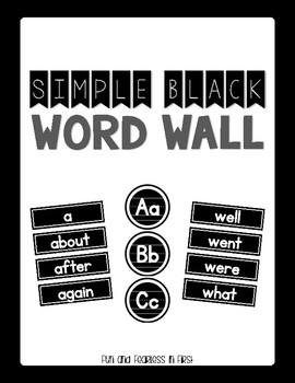 {Simple Black} K-2 Word Wall