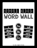 {Simple Black} K-2 Word Wall