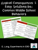 """""""Simple Solutions"""" for Middle School Behaviors"""