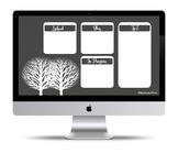 """Simplicity"" Desktop Organizer (customizable)"