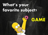 ▶️Simpsons Favorite Subject Points Game - Grades K-1 - PowerPoint