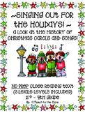 """Singing Out for the Holidays"" Close Reading Text and Graphic Organizers Gr. 2-4"