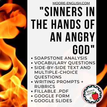 """""""Sinners in the Hands of an Angry God"""" SOAPSTone Analysis and Reading Questions"""