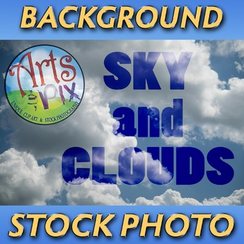 """! """"Sky and Clouds"""" - Photograph - Sky Background - Stock Photo"""