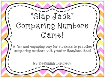"""Slap Jack"" Comparing Numbers (Greater Than/Less Than) Math Game"