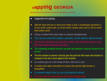 """Slapping"" GEORGIA: an epic game to locate cities, geographic features & more"