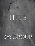 """""""Slate"""" Simple E-Book Template"""