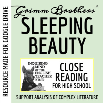 """""""Sleeping Beauty"""" by The Brothers Grimm - Quiz & Key"""