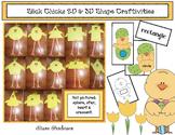 """Spring: """"Slick Chick"""": 2D & 3D Shaped Chick Crafts, Games & Emergent Reader"""
