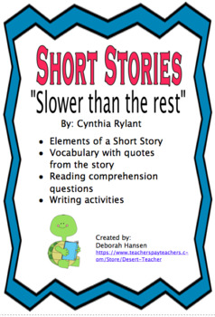 """Slower than the rest"" by Cynthia Rylant"