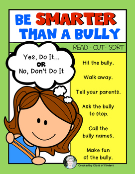 {Smarter than a Bully} Sort for Kindergarten and First Gra