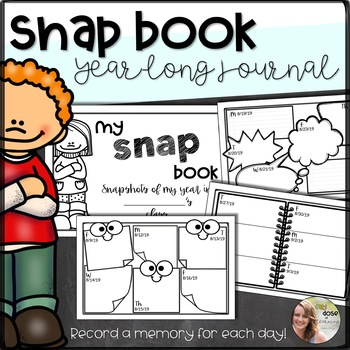 """Snap Book- Snapshots of My Year"" Booklet/ Year Long Journal"