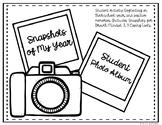 """""""Snapshots of My Year"""" Student Photo Album Activity"""