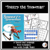 """Sneezy the Snowman"" Book Companion for Speech Therapy"