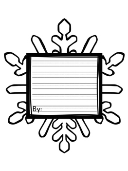 """Snow"" Blessed Bulletin Board Templates"