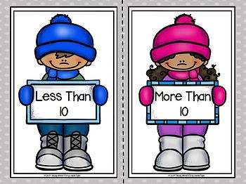 """""""Snow"""" Many More:  LOW PREP Winter Number Sorting Activity"""