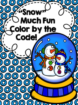 """Snow"" Much Fun Color by the Code---FREEBIE"