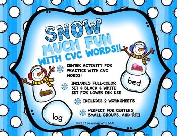 """""""Snow"""" Much Fun w/CVC Words"""
