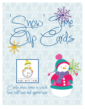 'Snow' Time Clip Cards