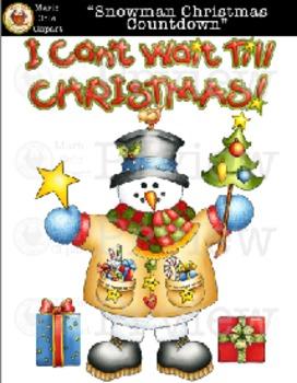 """Snowman Christmas Countdown"" [Marie Cole Clipart]"