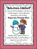 """""""Snowman Contest"""" Literacy Morning Work w/ Text, Comprehension, and Writing"""