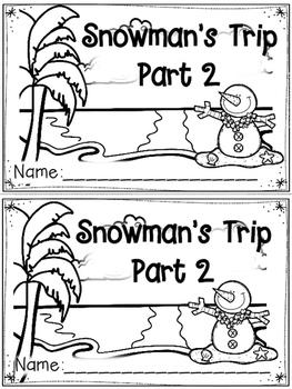 """""""Snowman's Trip: Part 2"""" Emergent Reader (A Winter/December/January Dollar Deal)"""