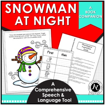 """Snowmen at Night"": A speech and language book companion"