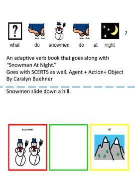 """Snowmen at Night"": Adaptive Action Verbs Book; SCERTS"