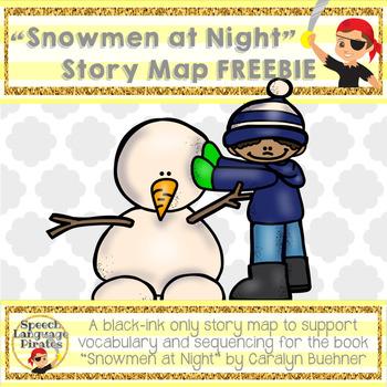 """Snowmen at Night"" Story Map FREEBIE"
