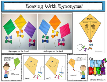 """Soaring With Synonyms!"" Kite Craftivity Packet"
