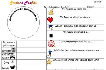 """""""Social Media"""" Beginning of the Year Student Interview Form"""