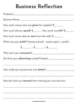 |Social Studies| Elementary Economics: Student Business Project