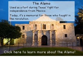 {Social Studies} SMART Notebook for Texas Landmarks