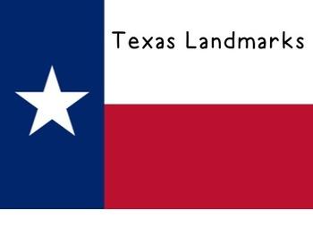 {Social Studies} Texas Landmarks Lesson Plans