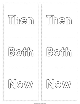  Social Studies: Then & Now  Long Ago and Today- Read, Draw, & Sort Activity