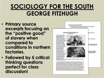 """Sociology for the South"" - George Fitzhugh - Antebellum Era - Slavery - APUSH"