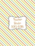 """Soft Diamonds"" Teacher Planner/Binder"