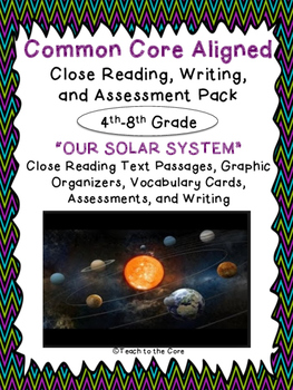 """Solar System"" Text Passages, Comp. Questions, Graphic Org"