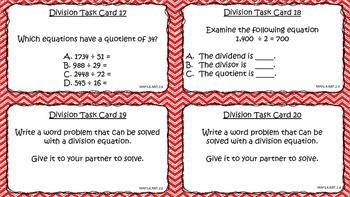 Division Task Cards (Solve 'n Swap)