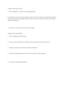"""Son"" Lois Lowry Comprehension Questions (Book TWO)"